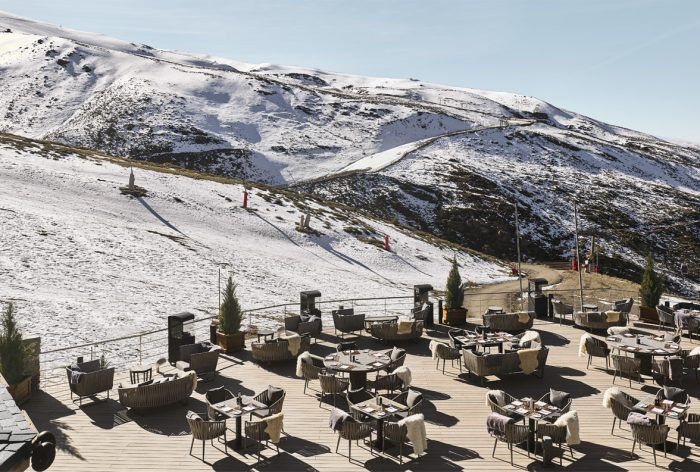 Restaurante a pie de pista en Sierra Nevada